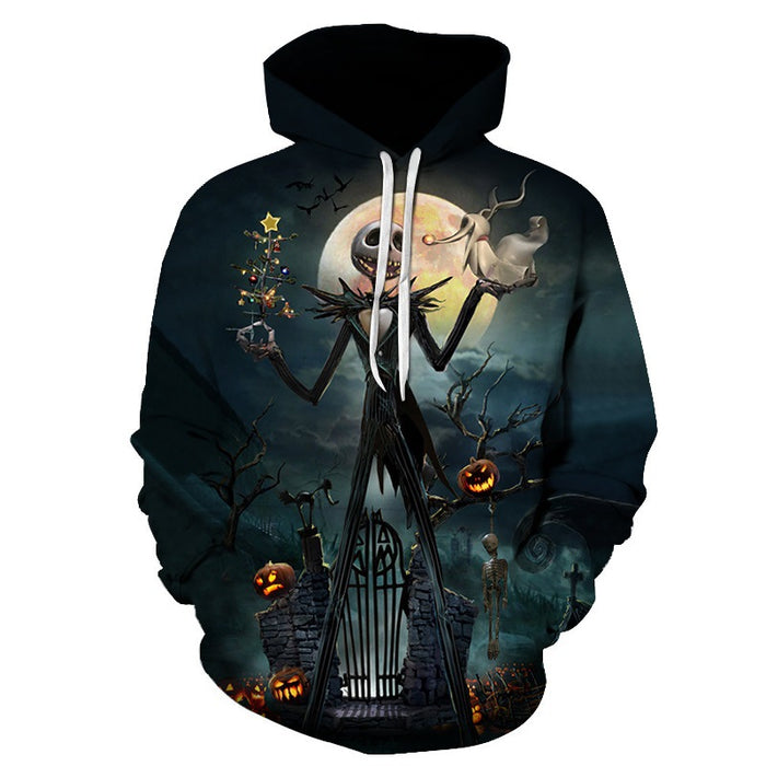The Night Before Christmas Skull Hoodie