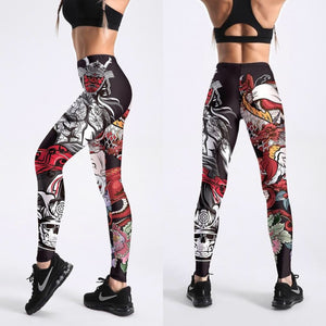Comic Skull Leggings
