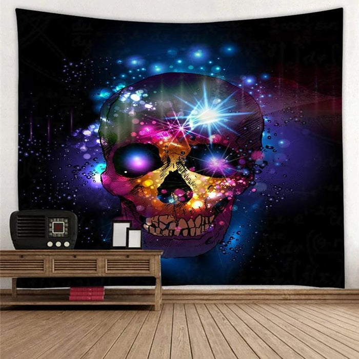 Galaxy Skull Tapestry Wall Hanging