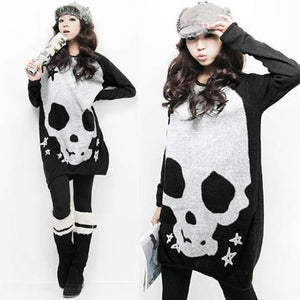 White Skull Long Sleeve Shirt