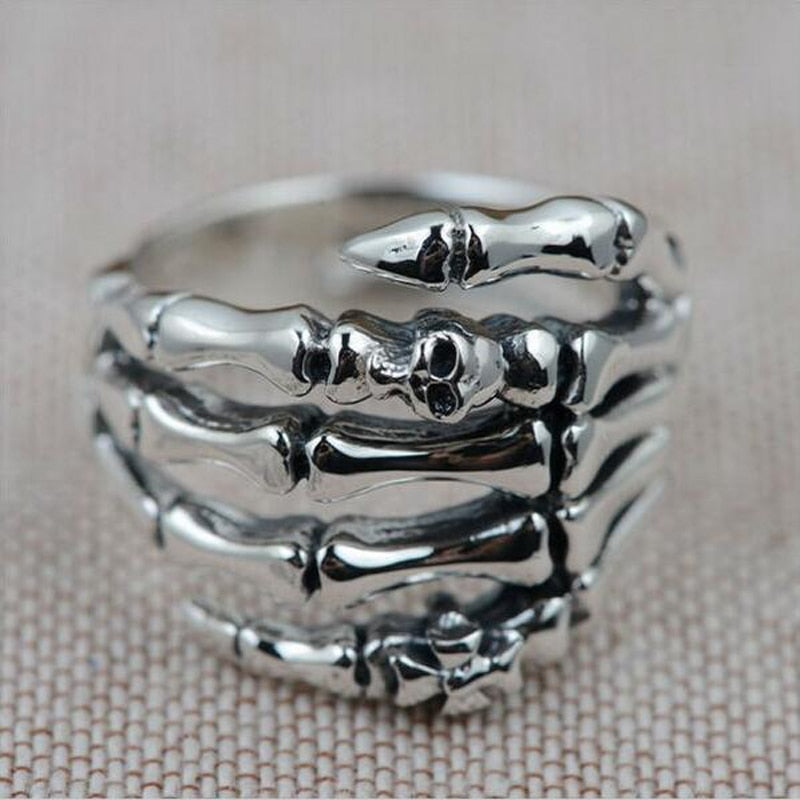 Skull Ring Men 925 Sterling Silver