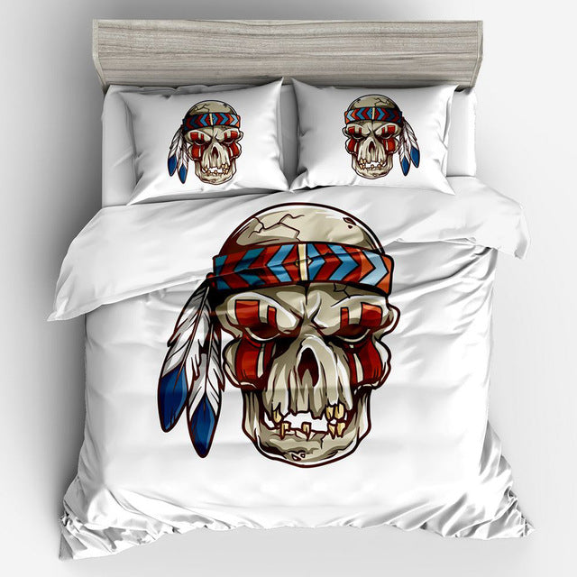 Pirate Captain Skull Bedding Set