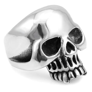 KEITH RICHARDS SKULL RING - MENS STAINLESS STEEL RING