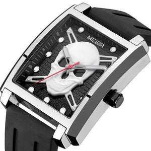 Luxury Skull Design with Soft Silicone Strap