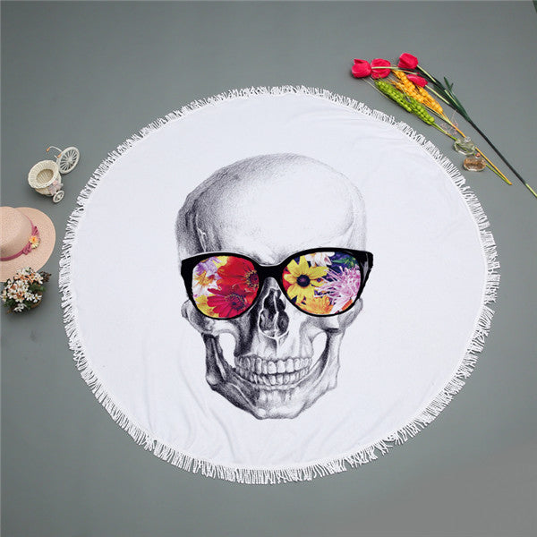 Skull with Glasses Swimming