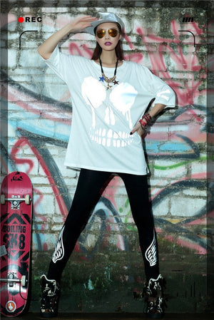 Hip Hop Rock Skull Sky T Shirt