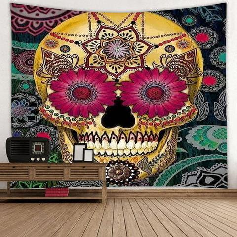 Sugar Skull Tapestry Wall Hanging