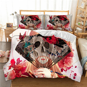 Colorful Skull Bedding