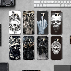 Personality Crown Skull Head TPU Cover for Samsung Galaxy