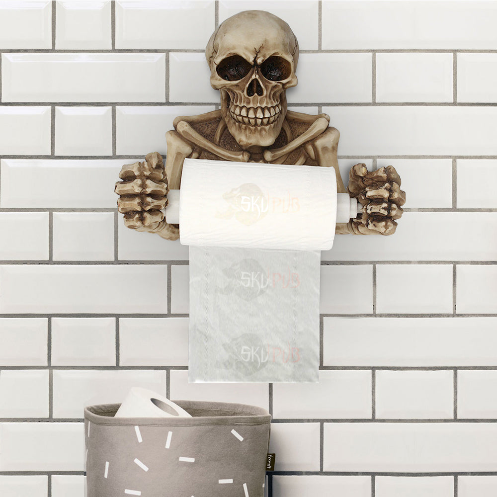 Skull Toilet Paper Holder Limited Edition
