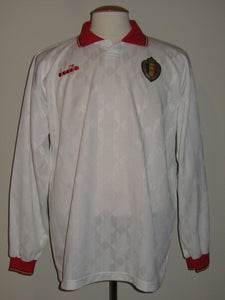 Rode Duivels 1992-1993 Away shirt MATCH WORN/ISSUE #15