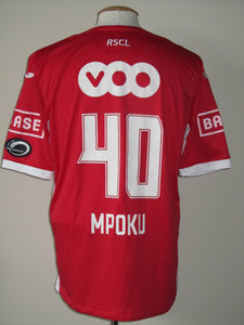 Standard Luik 2013-14 Home shirt MATCH ISSUE/WORN #40 Paul-José Mpoku