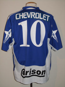 RAAL La Louvière 2004-05 Away shirt MATCH WORN #10 Wagneau Eloi