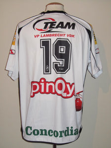 KSC Lokeren 2008-09 Home shirt MATCH WORN #19