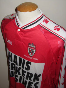 Royal Excel Mouscron 1998-99 Home shirt MATCH WORN #9 Axel Lawaree