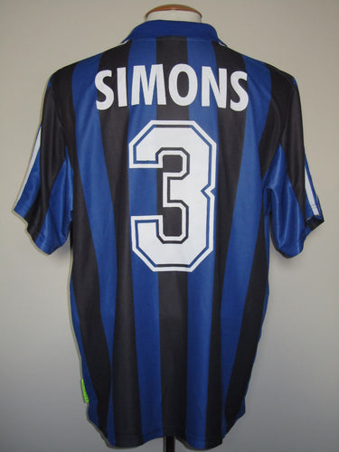 Club Brugge 2000-01 Home shirt MATCH WORN UEFA Cup #3 Timmy Simons
