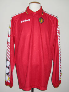 Rode Duivels 1994-1995 Home shirt MATCH WORN vs Malta #10