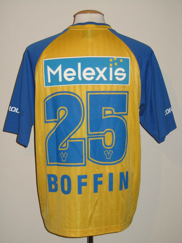 Sint-Truiden VV 2001-02 Home shirt MATCH WORN #25 Danny Boffin