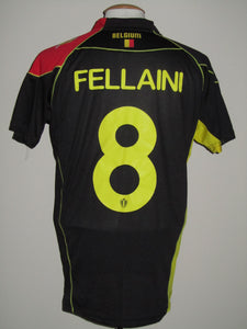 Rode Duivels 2014 Qualifiers WK Zwart shirt #8 Marouane Fellaini