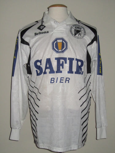 Eendracht Aalst 1997-98 Home shirt MATCH WORN #11 Peter Lässen