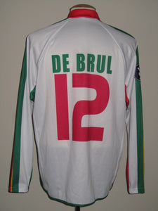 SV Zulte Waregem 2006-07 MATCH ISSUE Away shirt UEFA Cup #12 Tjörven De Brul
