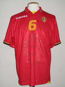 Rode Duivels 1996-97 home shirt MATCH ISSUE/WORN #6