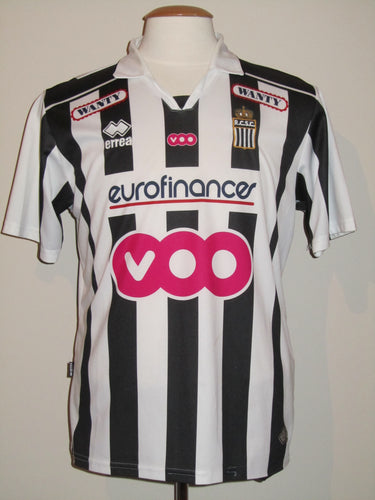 RSC Charleroi 2009-10 Home shirt MATCH WORN #24 Gregory Christ