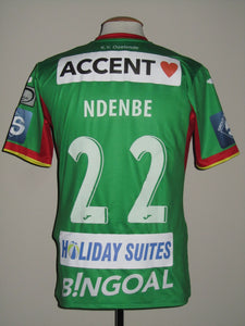 KV Oostende 2017-18 Home shirt MATCH WORN #22 Logan Ndenbe