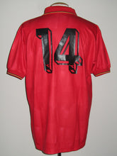 Load image into Gallery viewer, Rode Duivels 1992-93 home shirt MATCH WORN vs Romania Luis Oliveira #14