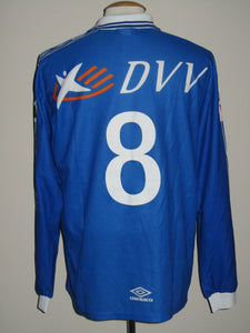 KAA Gent 1999-00 Home shirt match issued #8