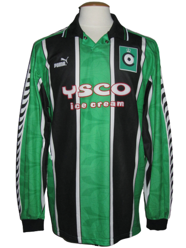 Cercle Brugge 1996-97 Home shirt  MATCH WORN vs SK Brann Bergen #4 Alex Camerman