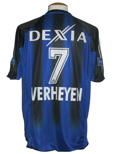 Club Brugge 2004-05 Home shirt MATCH ISSUE/WORN #7 Gert Verheyen