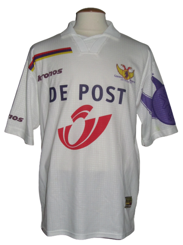 Germinal Beerschot 2000-01 Away shirt MATCH ISSUE/WORN #21 Bart Van Zundert