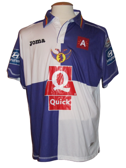 Germinal Beerschot 2010-11 Home shirt MATCH WORN #8 Sherjill MacDonald
