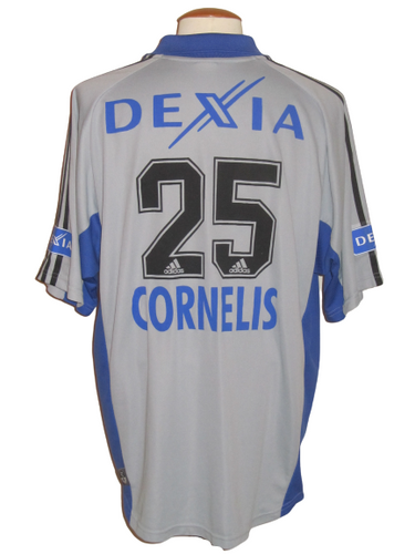 Club Brugge 2002-03 Away shirt MATCH ISSUE/WORN #25 Hans Cornelis