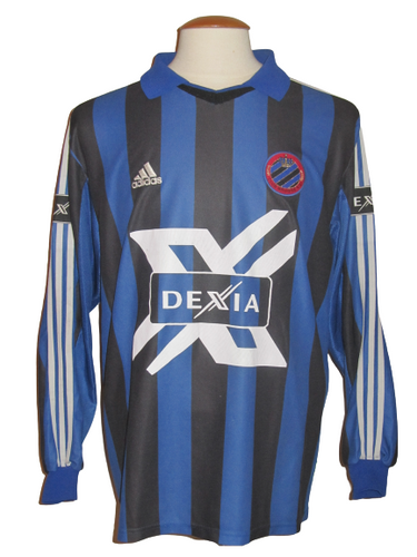 Club Brugge 2000-01 Home shirt MATCH ISSUE/WORN #5 Peter Van der Heyden