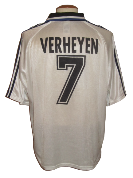Club Brugge 1998-99 Away shirt MATCH ISSUE/WORN UEFA Cup #7 Gert Verheyen