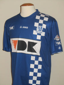 KAA Gent 2010-11 Home shirt MATCH ISSUE/WORN #24 Yaya Soumahoro