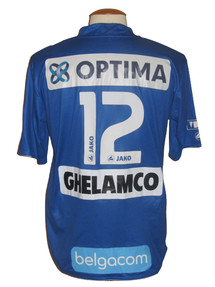 KAA Gent 2010-11 Home shirt MATCH ISSUE/WORN #12