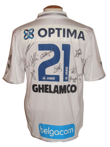 KAA Gent 2010-11 Away shirt MATCH ISSUE/WORN #21 Edson Montano