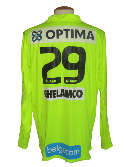 KAA Gent 2010-11 Keeper shirt MATCH ISSUE/WORN #29 Bojan Jorgačević