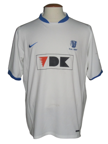 KAA Gent 2006-07 Away shirt MATCH ISSUE/PREPARED Intertoto #24 Steve De Ridder