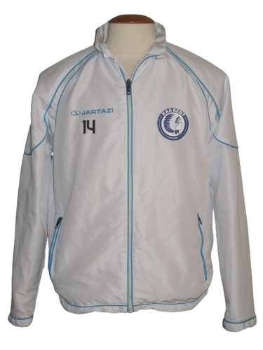 KAA Gent 2016-17 Training Jacket PLAYER ISSUE #14 Sven Kums