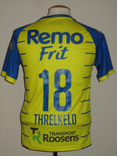 Load image into Gallery viewer, Waasland Beveren 2018-19 Home shirt MATCH ISSUE/WORN #18 Oscar Threlkeld