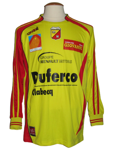 AFC Tubize 2008-09 Home shirt MATCH WORN #13 Alan Haydock