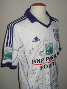 RSC Anderlecht 2013-14 Away shirt MATCH ISSUE/WORN #8 Luka Milivojević