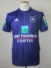 Load image into Gallery viewer, RSC Anderlecht 2017-18 Home shirt MATCH WORN #9 Henry Onyekuru vs KAS Eupen