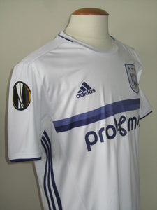 RSC Anderlecht 2016-17 Away shirt MATCH ISSUE/WORN Europa League #4 Kara Mbodj vs FSV Mainz 05