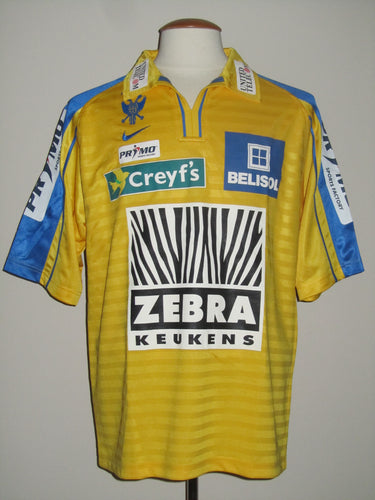 Sint-Truiden VV 2004-05 Home shirt MATCH ISSUE/WORN #25 Matthieu Beda