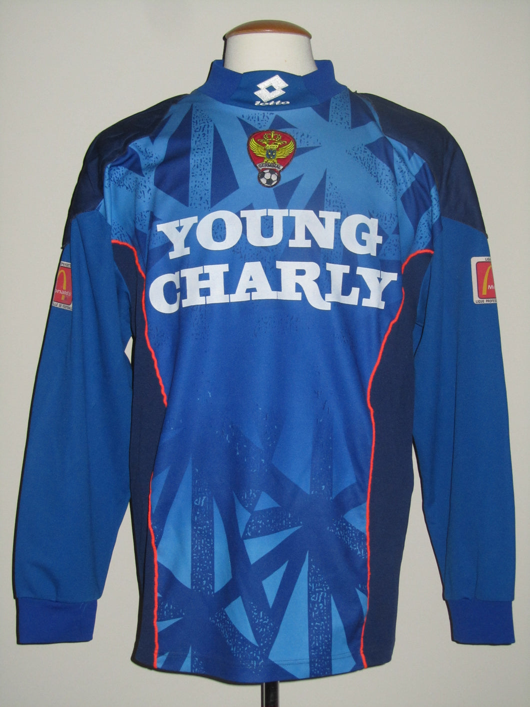 Germinal Ekeren 1995-97 Goal Keeper shirt MATCH ISSUE/WORN #1 Philippe Vande Walle